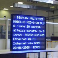 Giornale luminoso MX5-8-20 BLU RS232-422-485 Ethernet Wifi GPRS