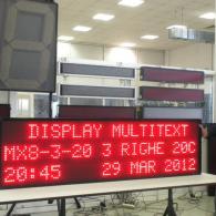 Giornale luminoso elettronico con led rossi per montaggio su lavoro