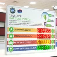 Tabellone elettronico TD7-100C4 con dati risparmio e inquinamento