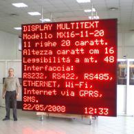 Tabellone gigante a led MX16-11-20 informacittà e allerte meteo