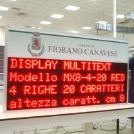Display a led multiriga MX8-4-20INFC per allerte meteo Protezione Civile
