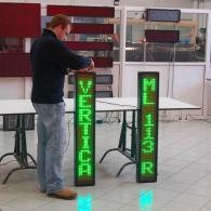 Visualizzatore elettronico a led verde verticale per slot machine o sale giochi