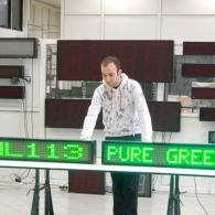 Display superluminoso ML113 verde pilotabili da PC con software o telecomando