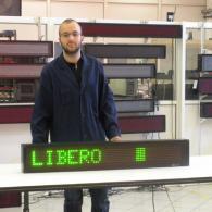 Display ML115C indicatore libero / occupato verde con semaforo. Produzione Italia