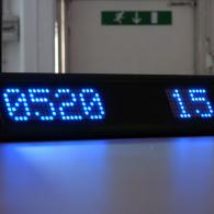 Display a led blu countdown cm 51 da tavolo o scrivania profilo nero