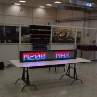 Display elettronico a led multicolor maxicolor scorrevole multiplexato