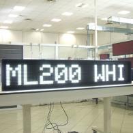 Display elettronico a led gigante bianco per pubblicità negozi e sport