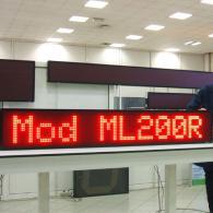 Striscia led ML200R rosso con messaggi scorrevoli per negozi e attività commerciali