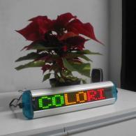 Display a led multicolor giallo rosso verde per pubblicità e messaggi