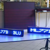 Righe elettroniche a led blu da scrivania o da tavolo per visualizzazione messaggi
