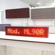 Riga elettronica a led rosso programmabile da PC e telecomando
