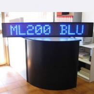 Riga led blu ML200 gigante da esterno punto luce e messaggi scorrevoli