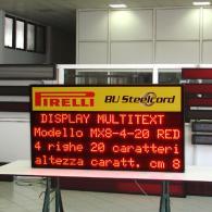 Display a led multiriga Pirelli per comunicazioni di servizio su lavoro