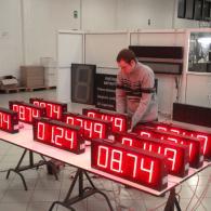 display numerico led interfaccia analogica in tensione 0-10V e in corrente 4-20mA