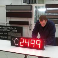 Display termometro 4 cifre °C con sonda protetto da esterno IP54