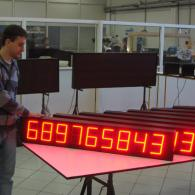 display led digit rossi con protocollo profinet. Produzione totale Italia