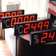 DIsplay termometri e umidità relativa a led rossi 3 e 4 cifre