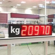 Visualizzatore numerico a led VS23-5 rosso a 5 cifre peso in kg, bilancia