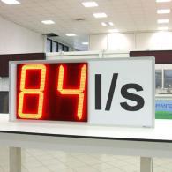 Display led VS47-2 rosso con l/s litri al secondo con grafica custom