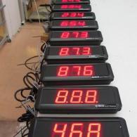 Display a 3 cifre rossi per logistica e codici di magazzino