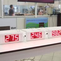 Display a led numerici bianchi con ingresso seriale RS232 RS485