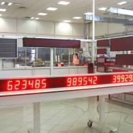 display numerico a led per pezzi prodotti, target, scarto
