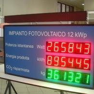 Display fotovoltaico per somma dati di due imianti fotovoltaici