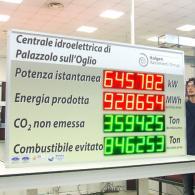 Display per monitoraggio energia prodotta da centrale idroeletrica