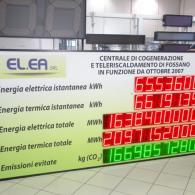 Display led energia prodotta impianto cogenerazione