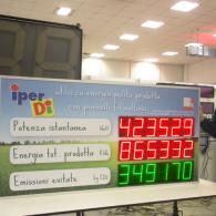Display a led per impianto geotermico