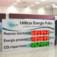 Display a led per visualizzazione produzione energia solare