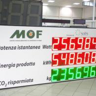 Display impianto PWD32-C3-TC per visualizzare dati di produzione photovoltaic plant