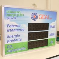 Power Display led impianti fotovoltaici