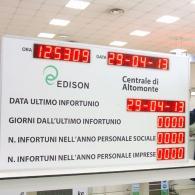 Tabellone led prevenzione infortuni per collegamento a PC o PLC
