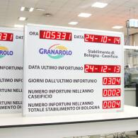 Display a led infortuni collegamento seriale RS485