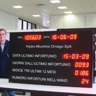 Dispositivo led antinfortunio modbus RTU Slave TCP/IP. Produzione Italiana