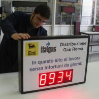 Display a led SD-TBV10-4 Eni Italgas per lavoro senza infortuni da giorni