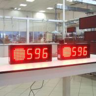Display a led con allarme semaforo interfaccia PLC BCD