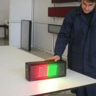 Display semaforo verde rosso a led per industria e linee di produzione