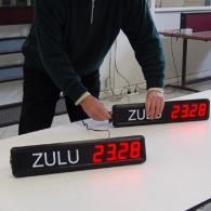 Display orologio con orario zulu per sale controllo e unita operative
