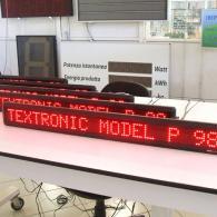 Tabellone monoriga P98 programmabile con allarmi impostabili. Produzione Italia