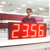 Display orario grande a led TM32 protetto da pioggia e polvere IP54 o IP65