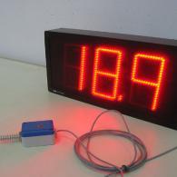 Display termometro a led con sonda temperatura PT100