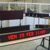 TimeTron led display monolinea datario orologio giorno della settimana