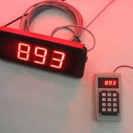 Display con terminale per chiamata turno carico-scarico automezzi