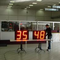 Display numerici grandi, Modbus RTU slave RS485 2 cifre rossi