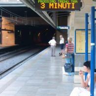 Pannello elettronico per Metro Roma per tempo di attesa arrivo convoglio