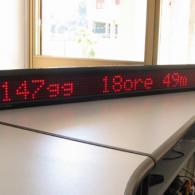 Display a led con countdown monolinea per eventi commerciali o annuali