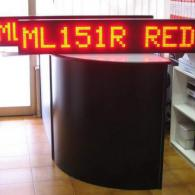 Strisce led monoriga rossi cm 151 con ingresso ethernet per reti negozi
