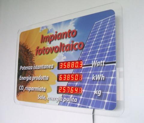 Display economico per monitoraggio impianto fotovoltaico
